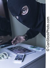 Thief in black mask - Photo of dangerous thief in black mask