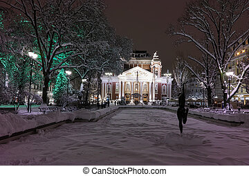 Ivan Vazov National Theatre, Sofia - Night Photo of Ivan...