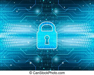 Technological board and lock on global security service...