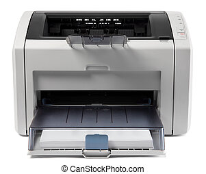 Laser printer - Officee equipment gray laser printer on...