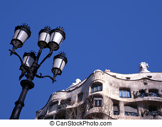 La Pedrera - The famous Barcelona landmark La Pedrera, with...