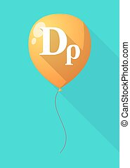 Long shadow balloon with a drachma currency sign -...
