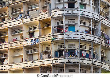 The appearance of apartments in Phnom Penh. The Capital Of...