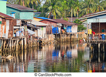 House on stilts in Cambodia are everywhere