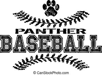 panther baseball - distressed panther baseball team design...