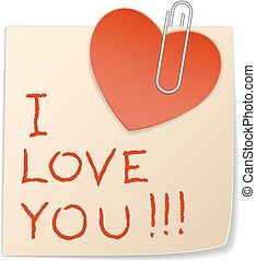 sticker heart and paper clip