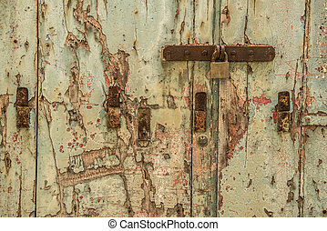old front door as background - old front door in the...