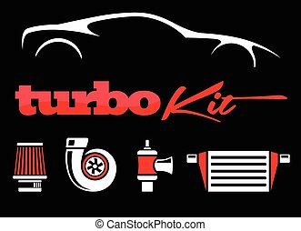 Vehicle performance mods turbo Kit - Vehicle turbo kit...