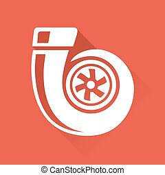 Vehicle part performance turbo icon - Vehicle performance...