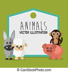 Animals cartoon design