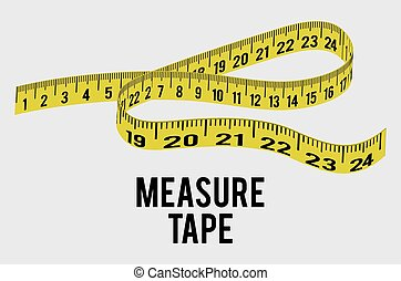Measure tape and dieting graphic design, vector illustration...