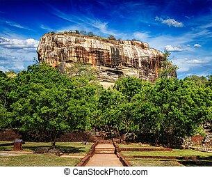 Sigiriya rock, Sri Lanka - Sigiriya rock - famous Sri Lankan...