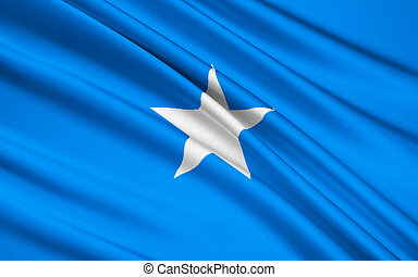 Flag of Somalia, Mogadishu - Flag of Somalia - adopted on...
