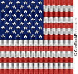 Knitted flag of the USA