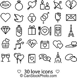 love line icons - thirty love line icons