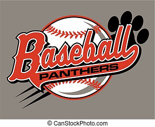 panthers baseball - panthers baseball team design with...