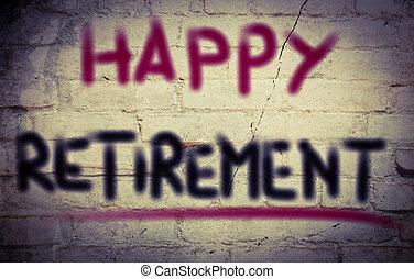 Happy Retirement Concept