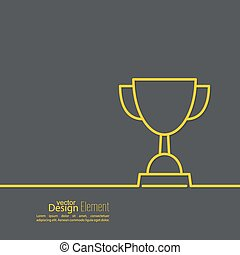 Gold cup of the winner