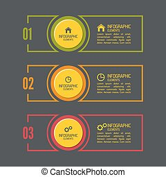Comparative chart with banner for presentation, informative...