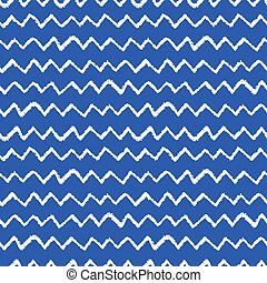 Seamless chevron pattern. Hand painted with oil pastel...