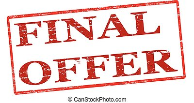 Final offer - Rubber stamp with text final offer inside,...