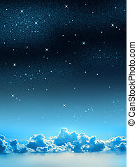 不滿星星的, 天空
