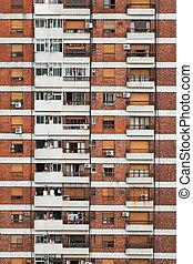 Stone facade, high-rise building - Stone facade of an live...