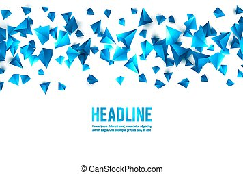 Wireframe polygonal background - Abstract 3d chaotic...