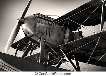 Biplane - Detail of a old biplane from the nineteen-twenties...