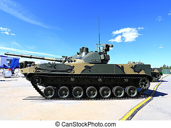Self-propelled gun - 125 mm self-propelled cannon Sprut on...