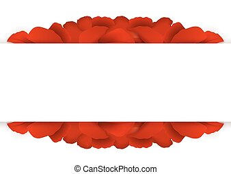 Background of red rose petals.