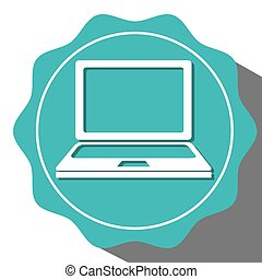 Technology icon design over white background over Vector...
