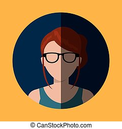 Young people profile graphic design, vector illustration...