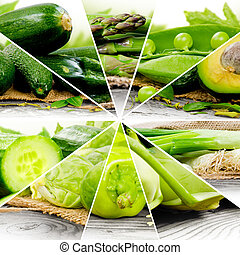 Green Vegetable Mix - Photo of green vegetable mix slices