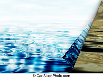 environmental concept, water protection - Environmental...
