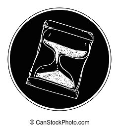 Simple doodle of an hourglass - Simple hand drawn doodle of...