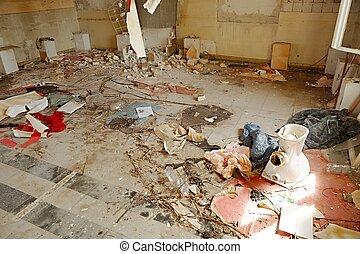 Debris pile - Pile of debris of a destroyed building