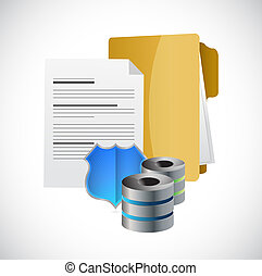 secure document storage folder servers and shield.