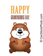 Happy Groundhog Day design - Happy Groundhog Day design....