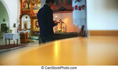 man faith praying in church religion prayer - man faith...