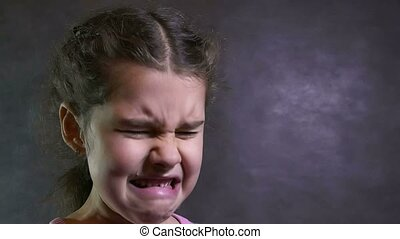 girl cries flow teen tears portrait problems under stress -...