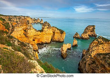 Felsformation in südportugal Algarve Küste - Rock Formation...