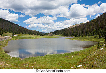 Lake in Rocky Mountain National Park - Poudre Lake near the...