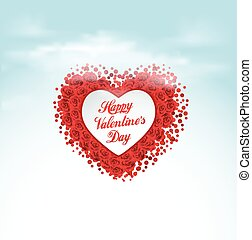 Valentine heart , vector greeting card