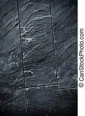 Black Schist - Fraction of a black schist wall with sharp...