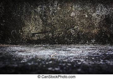 cemento, Grunge, pared, textura, para, Extracto, Plano de...