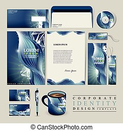 abstract technology background for corporate identity set