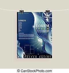 abstract technology background design for poster template