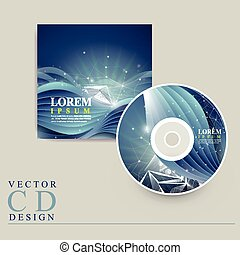abstract technology background for CD cover - abstract...