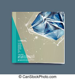 book cover with diamond element - modern design for book...